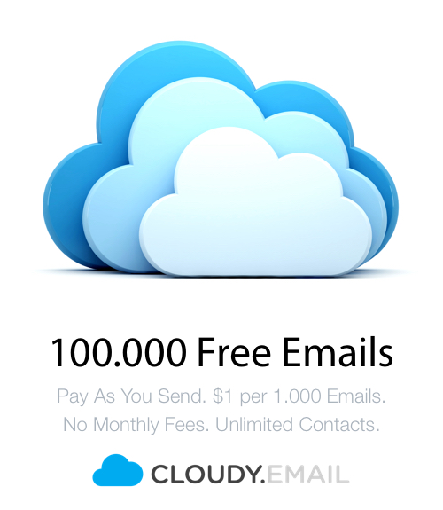 100.000 Free Emails - Cheap Alternative - Cloudy.Email