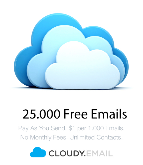 25.000 Free Emails - Cheap Alternative - Cloudy.Email